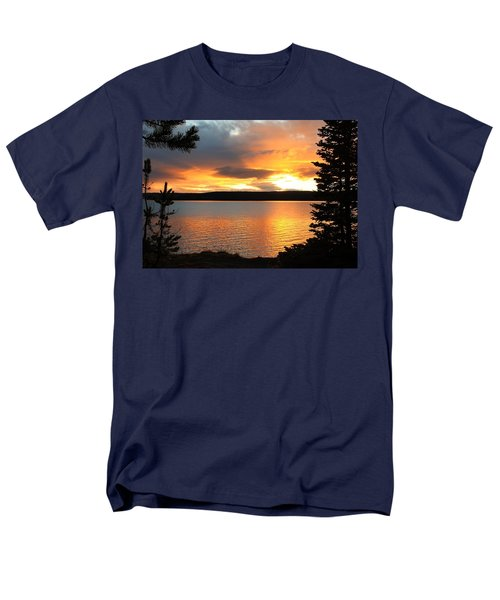 Men's T-Shirt  (Regular Fit) featuring the photograph Reflections Of Sunset by Athena Mckinzie