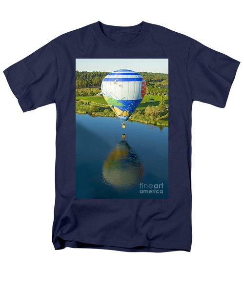 Men's T-Shirt  (Regular Fit) featuring the photograph Reflections Over The Dechutes by Nick  Boren