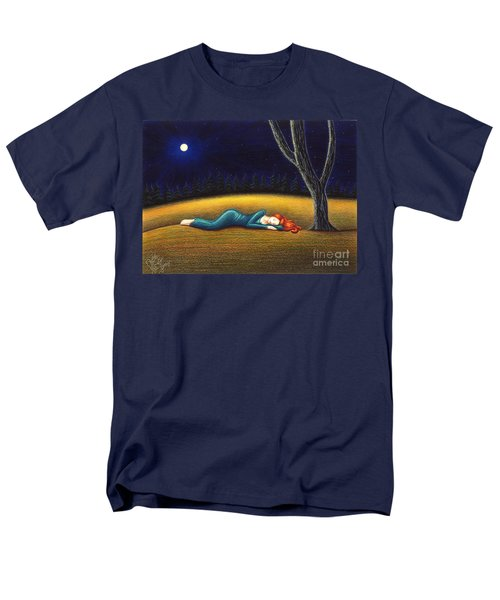 Men's T-Shirt  (Regular Fit) featuring the drawing Rest For A Weary Heart by Danielle R T Haney