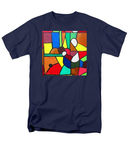 Men's T-Shirt  (Regular Fit) featuring the painting Retired Boxer by Mudiama Kammoh