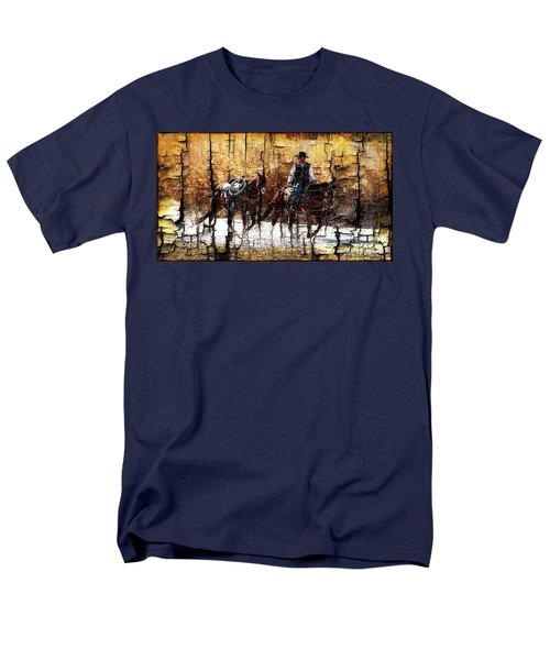 Rio Cowboy With Horses  Men's T-Shirt  (Regular Fit) by Barbara Chichester