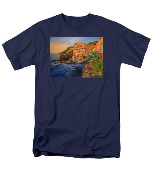 Riomaggiore Amore Men's T-Shirt  (Regular Fit) by Julie Brugh Riffey