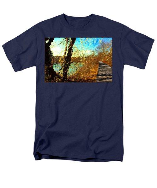 Riverwalk Men's T-Shirt  (Regular Fit) by Terence Morrissey