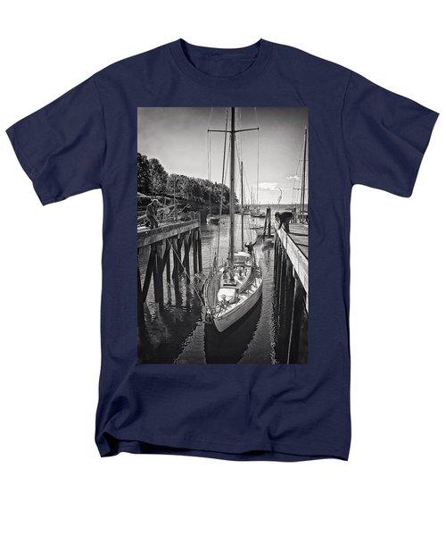 Rockport Harbor Men's T-Shirt  (Regular Fit) by Priscilla Burgers