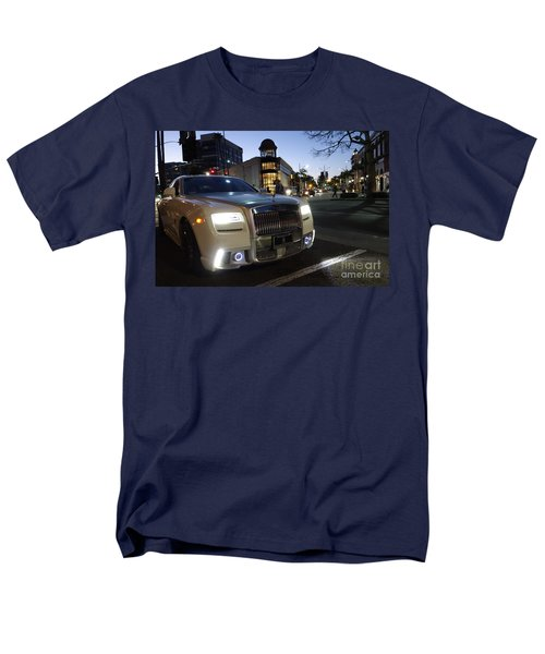 Rolls Royce Parked At The Bottom Of Rodeo Drive Men's T-Shirt  (Regular Fit) by Nina Prommer