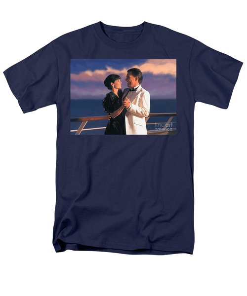 Men's T-Shirt  (Regular Fit) featuring the painting Romantic Cruise by Tim Gilliland