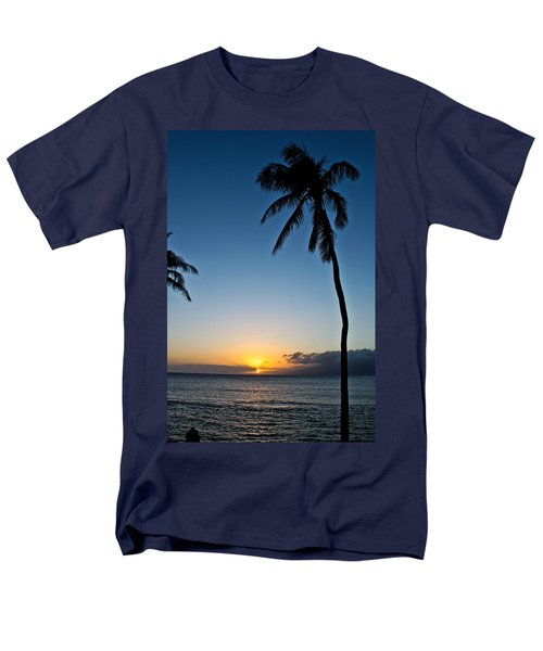 Romantic Maui Sunset Men's T-Shirt  (Regular Fit) by Joann Copeland-Paul