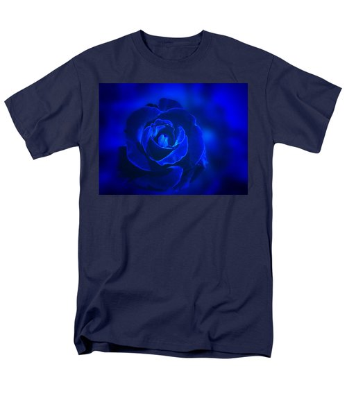 Rose In Blue Men's T-Shirt  (Regular Fit) by Sandy Keeton