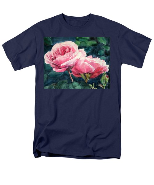 Pink Roses Wildebras Men's T-Shirt  (Regular Fit) by Greta Corens