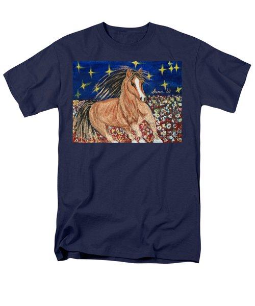Men's T-Shirt  (Regular Fit) featuring the painting Running Horse by Oksana Semenchenko