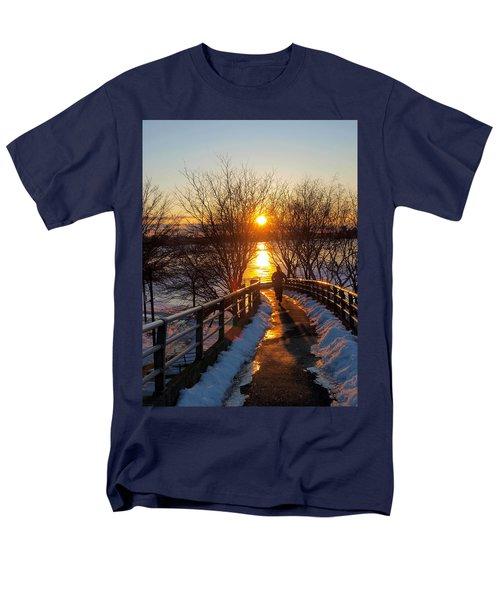 Running In Sunset Men's T-Shirt  (Regular Fit) by Paul Ge