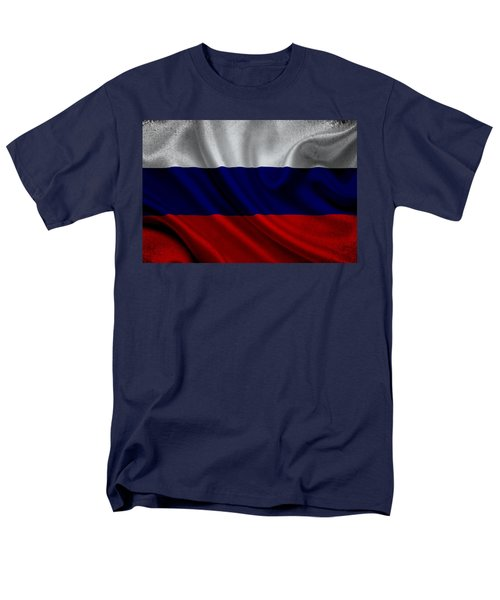 Russian Flag Waving On Canvas Men's T-Shirt  (Regular Fit) by Eti Reid