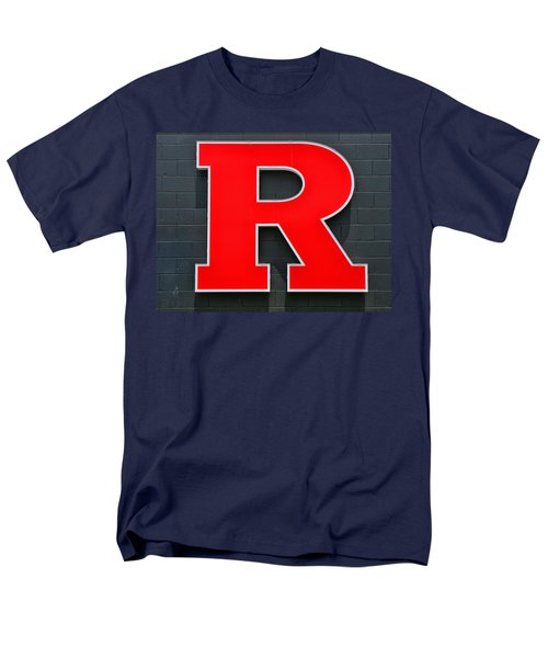 Rutgers Block R Men's T-Shirt  (Regular Fit) by Allen Beatty