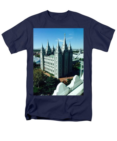 Men's T-Shirt  (Regular Fit) featuring the photograph Salt Lake Temple The Church Of Jesus Christ Of Latter-day Saints The Mormons by Richard W Linford