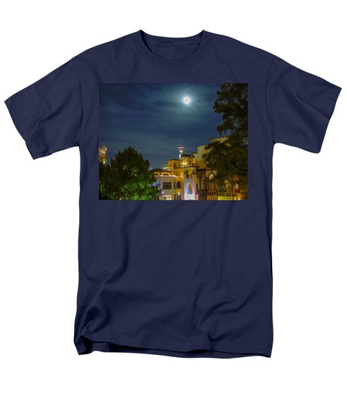 San Antonio Cityscape Men's T-Shirt  (Regular Fit) by Allen Sheffield