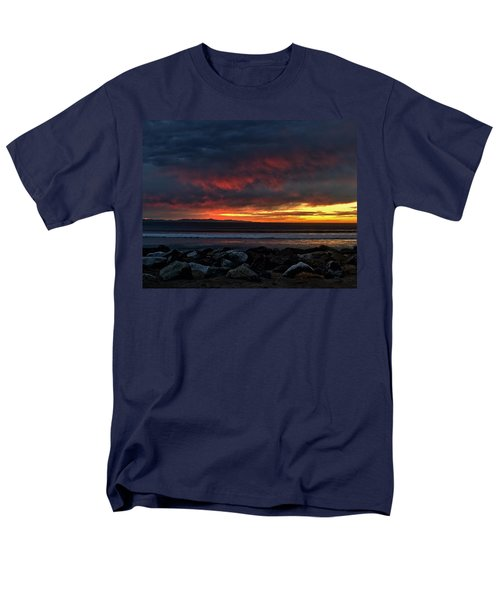 Men's T-Shirt  (Regular Fit) featuring the photograph Santa Cruz Rocks by Michael Gordon