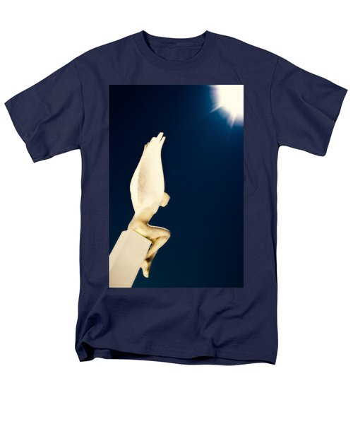 Men's T-Shirt  (Regular Fit) featuring the photograph Santorini Guardian by Meirion Matthias