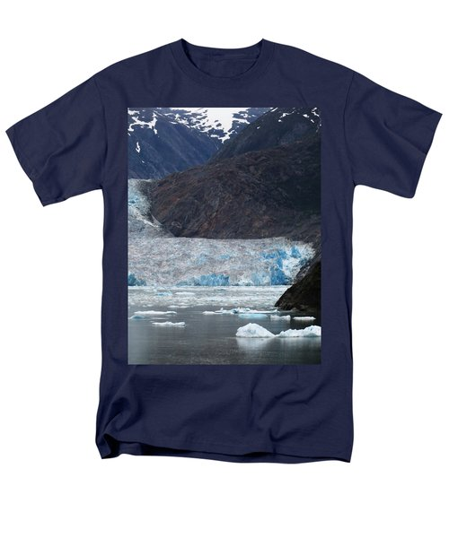 Men's T-Shirt  (Regular Fit) featuring the photograph Sawyer Glacier Blue Ice by Jennifer Wheatley Wolf