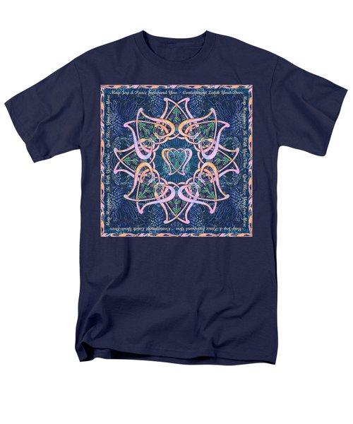 Scottish Blessing Celtic Hearts Duvet Men's T-Shirt  (Regular Fit) by Michele Avanti