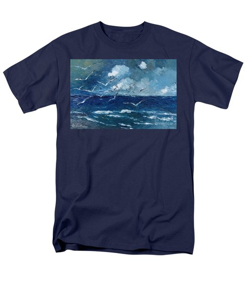 Seagulls Over Adriatic Sea Men's T-Shirt  (Regular Fit) by AmaS Art