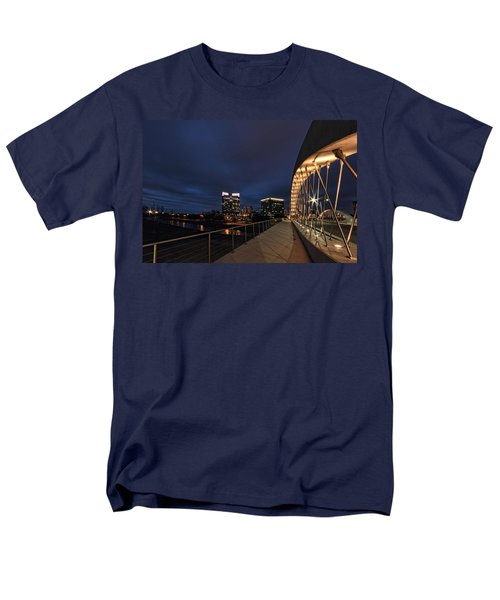 Seventh Avenue Bridge Fort Worth Men's T-Shirt  (Regular Fit) by Jonathan Davison