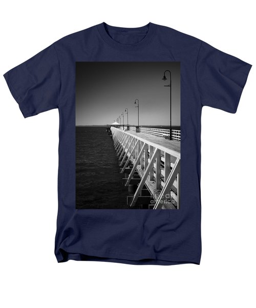 Men's T-Shirt  (Regular Fit) featuring the photograph Shorncliffe Pier In Monochrome by Peta Thames