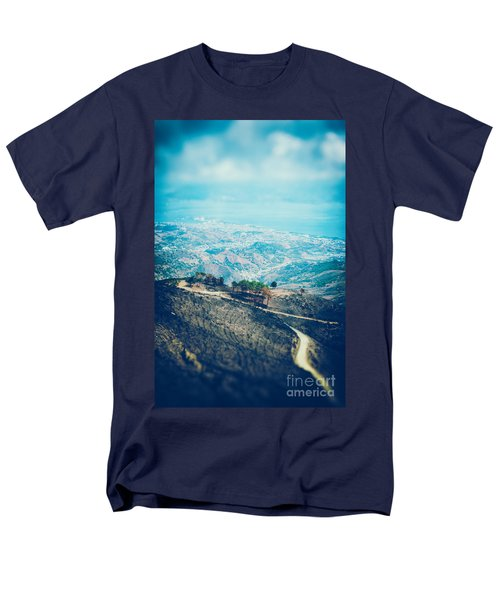 Men's T-Shirt  (Regular Fit) featuring the photograph Sicilian Land After Fire by Silvia Ganora