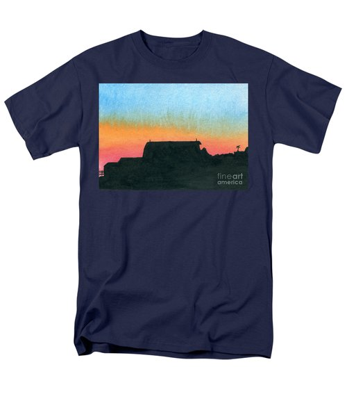 Silhouette Farmstead Men's T-Shirt  (Regular Fit) by R Kyllo