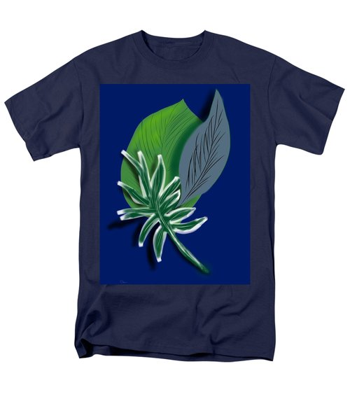 Men's T-Shirt  (Regular Fit) featuring the digital art Silver Leaf And Fern I by Christine Fournier