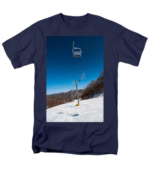 Ski Lift Men's T-Shirt  (Regular Fit) by Alex Grichenko