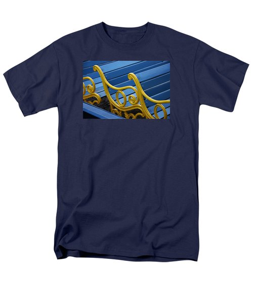 Men's T-Shirt  (Regular Fit) featuring the photograph Skc 0246 The Garden Benches by Sunil Kapadia