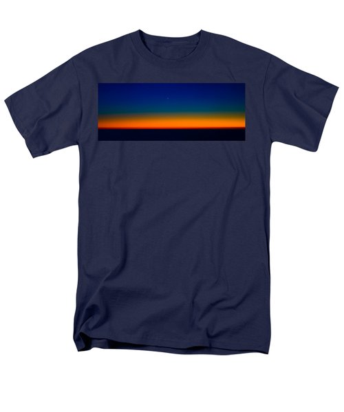 Men's T-Shirt  (Regular Fit) featuring the photograph Slice Of Moon In The Night Sky by Don Schwartz