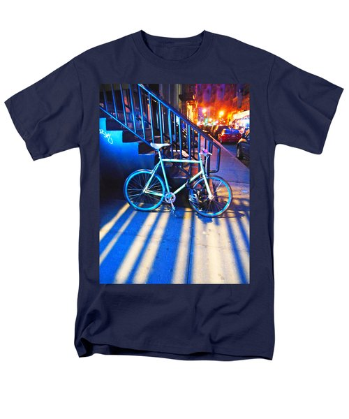 Men's T-Shirt  (Regular Fit) featuring the photograph Soho Bicycle  by Joan Reese