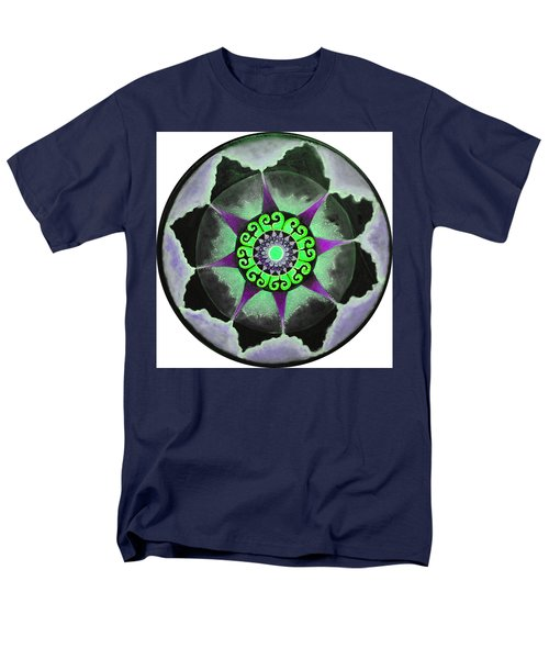 Men's T-Shirt  (Regular Fit) featuring the painting Solar Soul Purple Sky by Patricia Arroyo