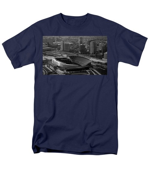 Soldier Field Chicago Sports 05 Black And White Men's T-Shirt  (Regular Fit) by Thomas Woolworth