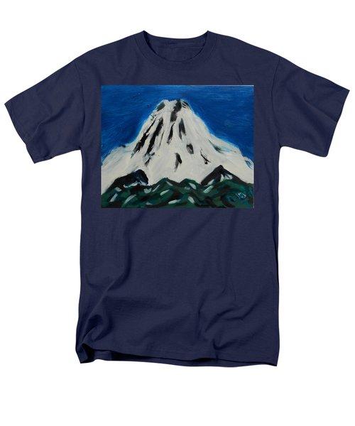 Somewhere Rainier Men's T-Shirt  (Regular Fit) by David Trotter