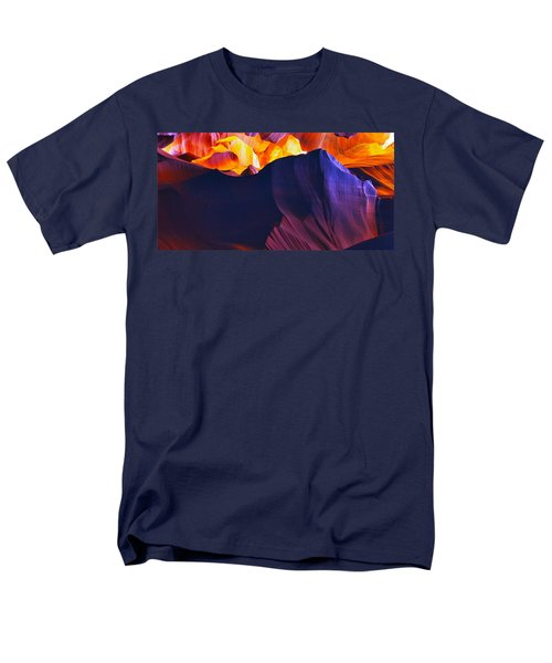Men's T-Shirt  (Regular Fit) featuring the photograph Somewhere In America Series - Antelope Canyon by Lilia D