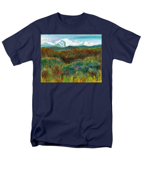 Spanish Peaks Evening Men's T-Shirt  (Regular Fit) by C Sitton