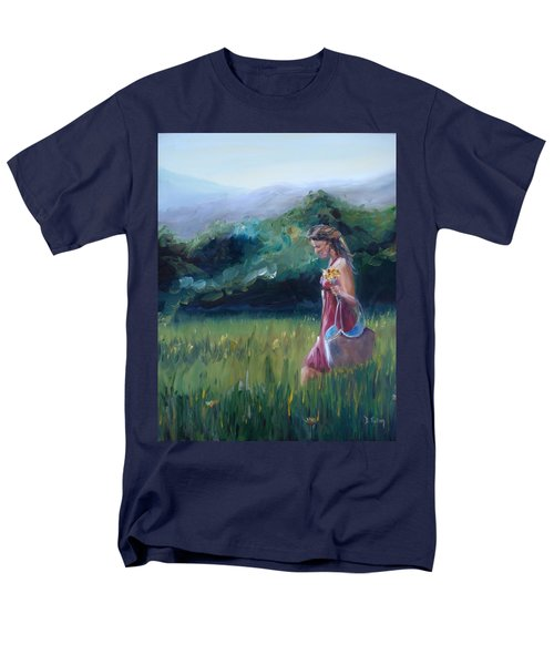 Men's T-Shirt  (Regular Fit) featuring the painting Spring Stroll by Donna Tuten