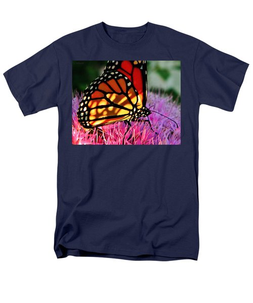Stained Glass Monarch  Men's T-Shirt  (Regular Fit) by Chris Berry