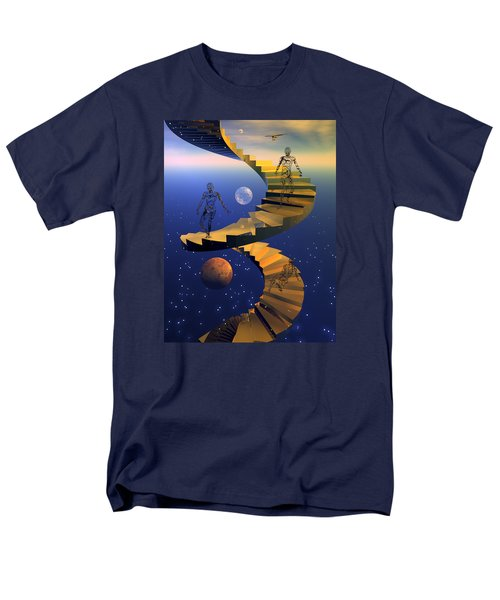 Men's T-Shirt  (Regular Fit) featuring the digital art Stairway To Imagination by Claude McCoy