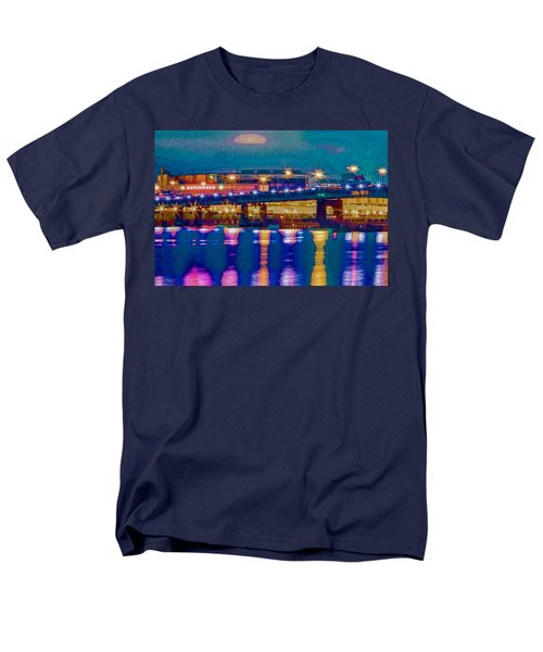 Starry Night At Nationals Park Men's T-Shirt  (Regular Fit) by Jerry Gammon