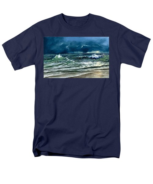 Men's T-Shirt  (Regular Fit) featuring the painting Storm Off Yucatan Mexico by Lynne Wright