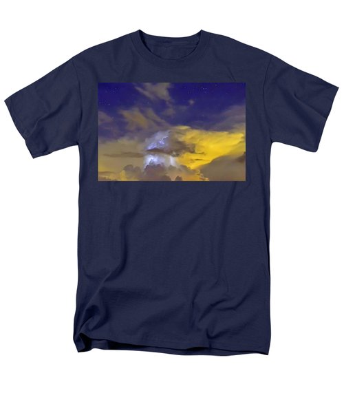 Men's T-Shirt  (Regular Fit) featuring the photograph Stormy Stormy Night by Charlotte Schafer