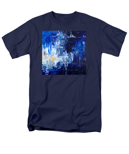 Men's T-Shirt  (Regular Fit) featuring the painting Stormy Waves by Rebecca Davis