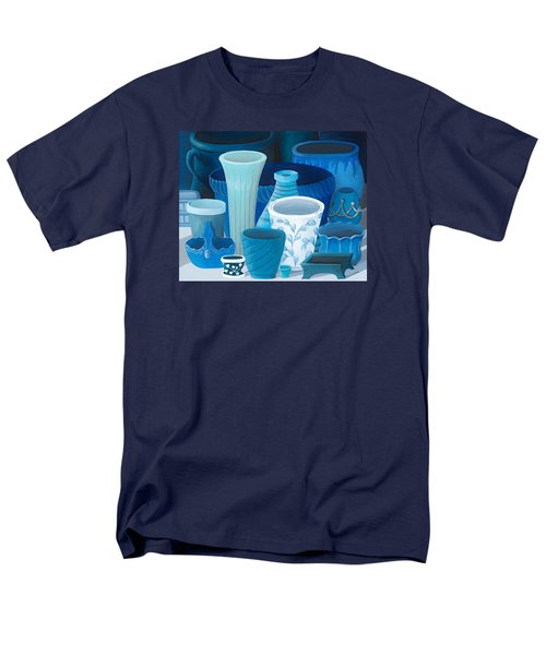 Study In Blue Men's T-Shirt  (Regular Fit) by Katherine Young-Beck