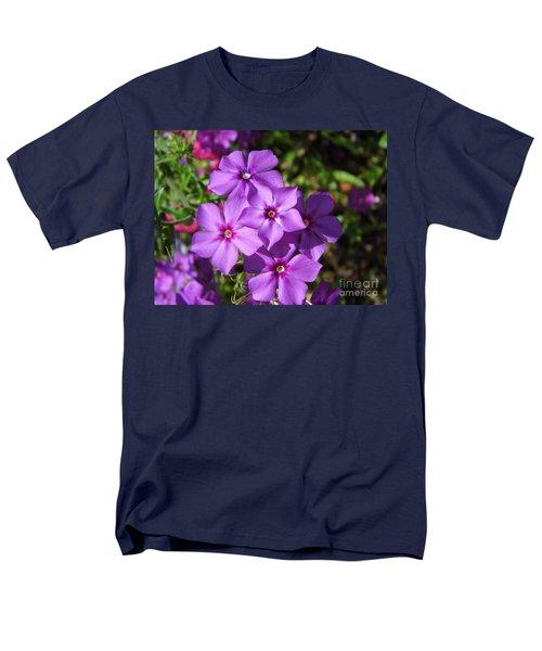 Men's T-Shirt  (Regular Fit) featuring the photograph Summer Purple Phlox by D Hackett