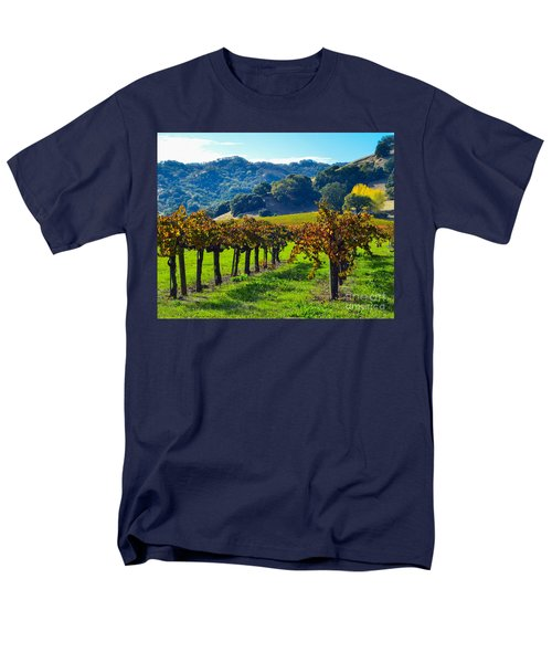 Sunny Autumn Vineyards Men's T-Shirt  (Regular Fit) by CML Brown