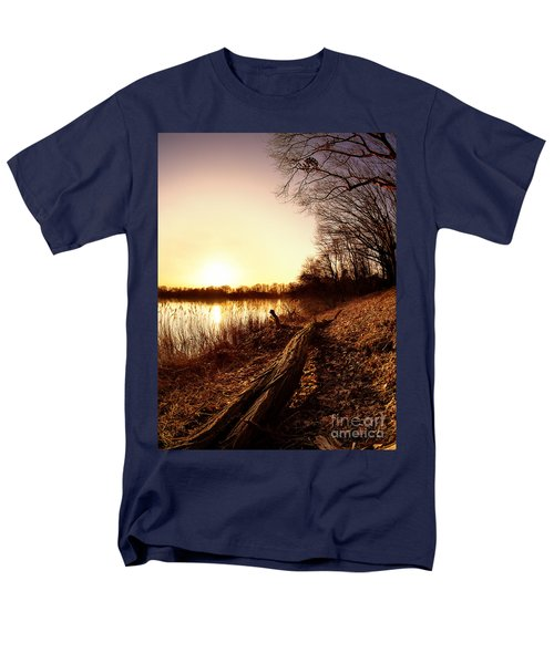 Sunset At The Lake Men's T-Shirt  (Regular Fit) by Daniel Heine
