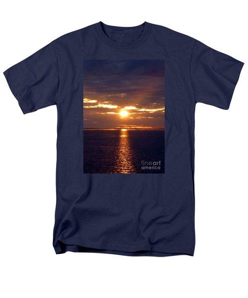 Sunset From Peace River Bridge Men's T-Shirt  (Regular Fit) by Barbie Corbett-Newmin